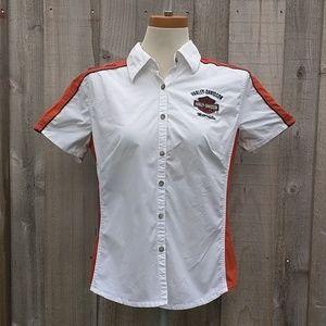 Harley Davidson Button Down Shirt Short Sleeve